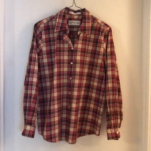 Orvis Sporting Traditions Plaid Blouse Size 6